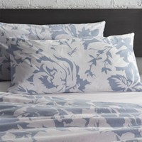 Cb2 Set Of 2 The Hill Side Giant Floral Print King Shams