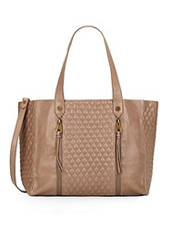 Joelle Hawkens By Treesje Chryssie Quilted Leather Tote Cement