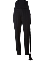 Ports 1961 High Waisted Trousers Black