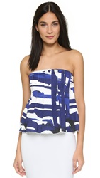 C Meo Collective Art Of Love Bustier Blue Paint Print
