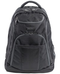 Kenneth Cole Reaction Expandable Laptop Backpack With Ipad Tablet Pocket Black