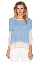 Charli Two Tone Sweater Blue