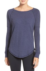 Under Armour Women's Long Sleeve Knit Tee Midnight Navy Midnight Navy