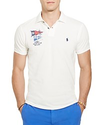 Polo Ralph Lauren Nautical Cotton Mesh Slim Fit Shirt White