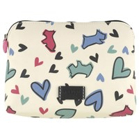Radley Love Me Love My Dog Medium Cosmetic Case Ivory