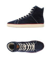 Napapijri Footwear High Tops And Trainers Men Dark Blue