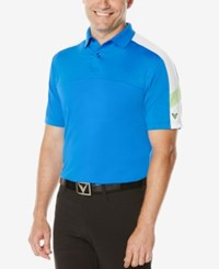 Callaway Men's Colorblocked Golf Polo Magnetic Blue
