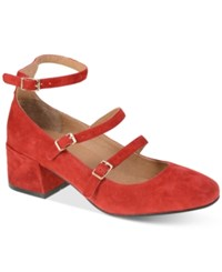 Chinese Laundry Moto Strappy Pumps Women's Shoes Red