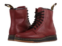 Dr. Martens Newton 8 Eye Boot Cherry Red Temperley Lace Up Boots Brown