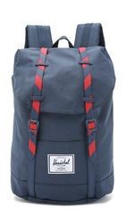 Herschel Retreat Backpack Navy Red Stripe
