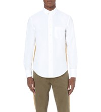 Palm Angels Gold Trim Cotton Oxford Shirt White