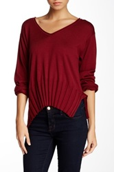 Planet Cropped Sweater Purple