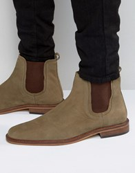 Dune Chelsea Boots Taupe Leather Brown
