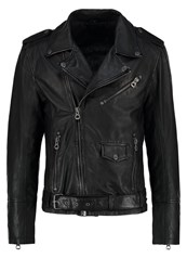 Gipsy Marlon Leather Jacket Schwarz Black
