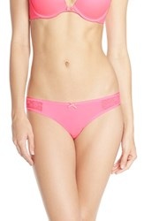 Betsey Johnson Women's 'Slinky' Thong Party Girl Pink
