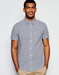 United Colors Of Benetton Gingham Short Sleeve Shirt Blue