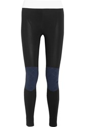No Ka' Oi Ka'oi Kina Paneled Stretch Jersey Leggings Black
