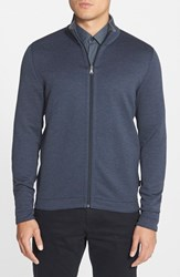 Men's Boss 'Fossa' Regular Fit Full Zip Reversible Sweatshirt Navy