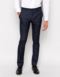 United Colors Of Benetton Suit Trousers In Slim Fit Navy