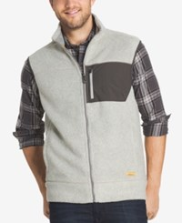 G.H. Bass And Co. Men's Zip Up Vest Silver Birch