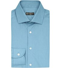 Corneliani Regular Fit Denim Shirt Mid Blue