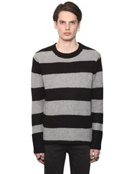 Cheap Monday Intarsia Striped Wool Blend Sweater