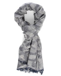 Hartford Grey Blend Camouflage Cotton Scarf