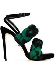Marco De Vincenzo Ankle Strap Stiletto Sandals Black