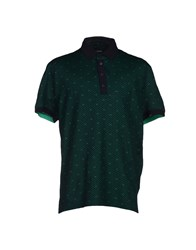 Dirk Bikkembergs Topwear Polo Shirts Men Dark Green