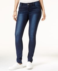Rampage Juniors' Sophie Lace Up Super Skinny Jeans Grove