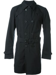 Herno Double Breasted Belted Trench Black