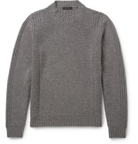 Belstaff Margate Wool And Cashmere Blend Sweater Gray