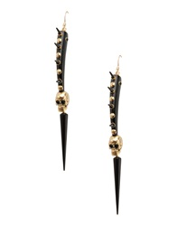 First People First Earrings Black