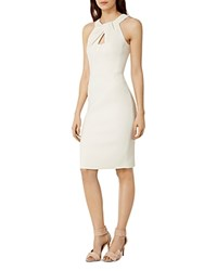 Karen Millen Knot Neck Pencil Dress White
