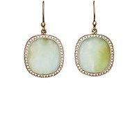 Monique Pean Women's Opal Oval Drop Earrings No Color