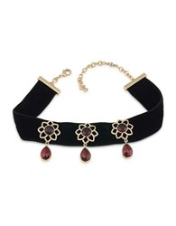 Carolee The Big Apple 12K Goldplated Statement Choker Necklace Red