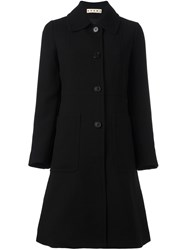 Marni A Line Mid Length Coat Black