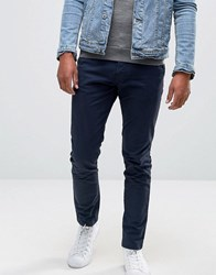 Pull And Bear Pullandbear Skinny Chinos In Navy Navy