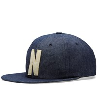 Norse Projects Denim 6 Panel Cap Blue