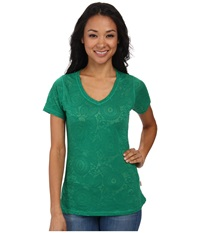 Woolrich Wide Open Spaces Burn Out Tee Turf Women's T Shirt Green