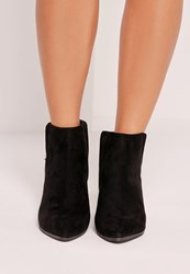 Missguided Pointed Toe Ankle Boots Black Black