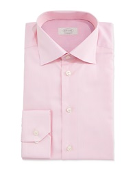 Eton Contemporary Fit Mini Houndstooth Dress Shirt Pink