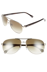 Jack Spade 'Morton' 60Mm Aviator Sunglasses Gold Brown Gradient