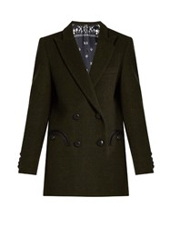 Blaze Milano Everyday Woodland Wool Blazer Dark Green