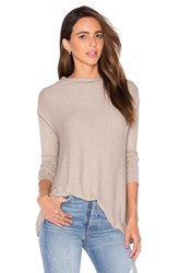 Free People Lover Rib Thermal Top Taupe