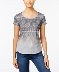 Styleandco. Style Co. Petite Paisley Graphic T Shirt Only At Macy's Light Grey