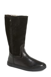 Frye 'Gemma' Tall Genuine Shearling Lined Boot Black