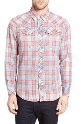 G Star Men's Raw Tacoma Trim Fit Plaid Western Shirt