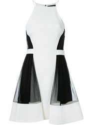 David Koma Side Tulle Ruffle Dress White