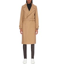 Joseph Double Breasted Wool Blend Coat 150 Camel